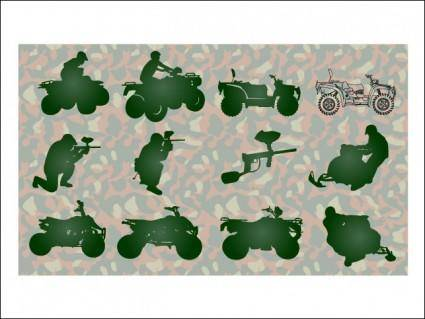 free vector Paintball Silhouettes