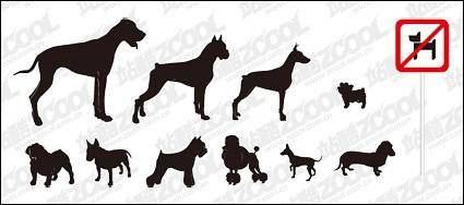 free vector Vector silhouette of a variety of dog material