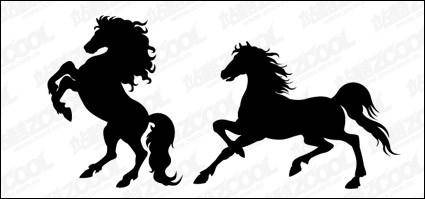 free vector Horse silhouette vector material-2