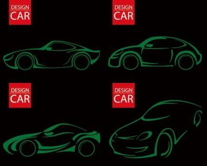 Line drawing car vector