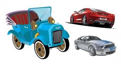 free vector 3 car vector
