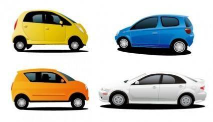 4 car vector