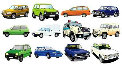 free vector Beautiful variety of cars vector 2