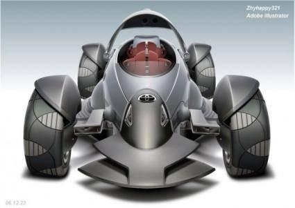 free vector Ai vector drawing grid next car