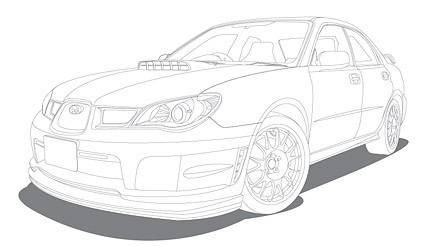 Line drawing vehicle car vector