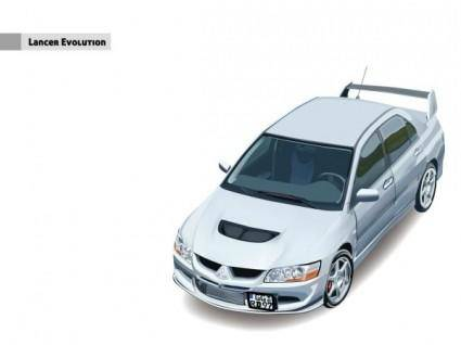 free vector Giggle vectorlancer evolution cars