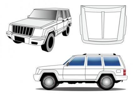 free vector Jeep2500 jeep vector