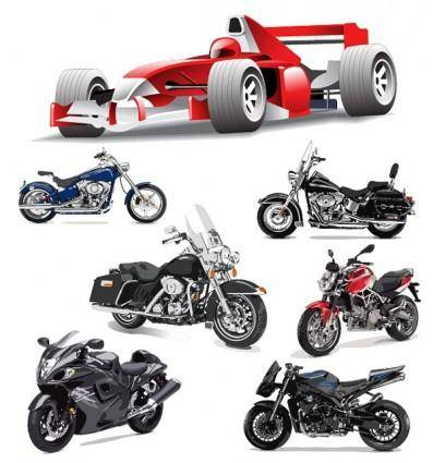 free vector F1 formula one racing and motorcycle vector