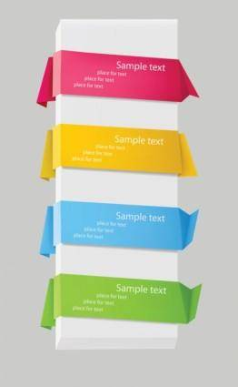 free vector Delicate origami label 02 vector