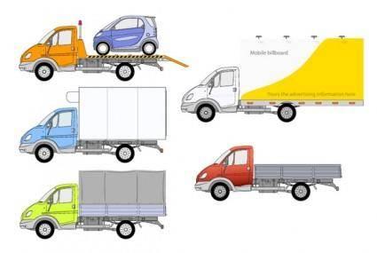 free vector 5 truck vector
