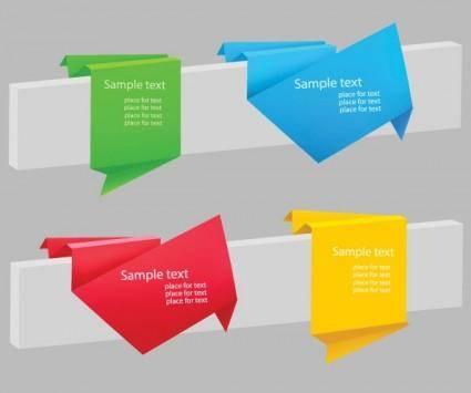 free vector Delicate origami label 03 vector