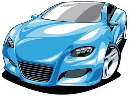free vector Fine sports car 01 vector