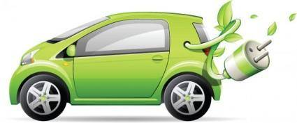 Green cars vector