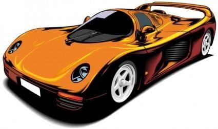 free vector Fine sports car 02 vector