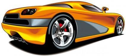 free vector Fine sports car 04 vector