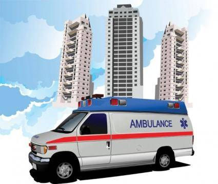 free vector 120 ambulance 02 vector