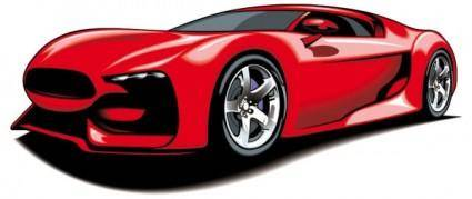 Fine sports car 03 vector