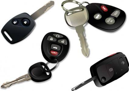 Electronic car keys vector