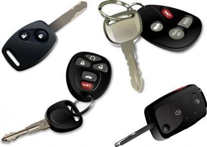 Electronic car keys vector