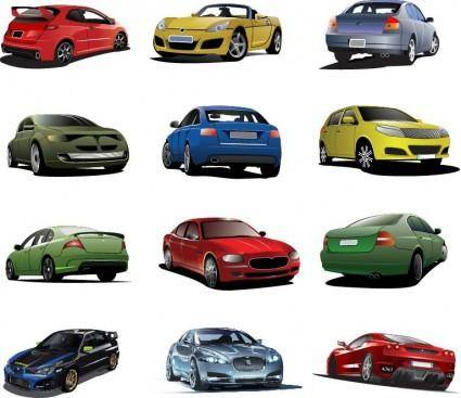 Free Cars Vector Set
