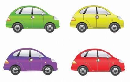 Set of Four Car Vector