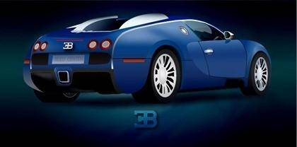 free vector Blue Illustrate Car with Shiny Render