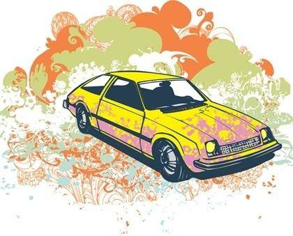 Free Grunge Car Vector Graphic