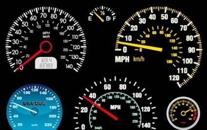 free vector Vector Car Mileage Displays