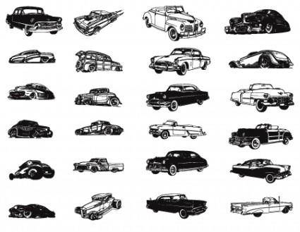 free vector Vector Vintage Dragster Cars