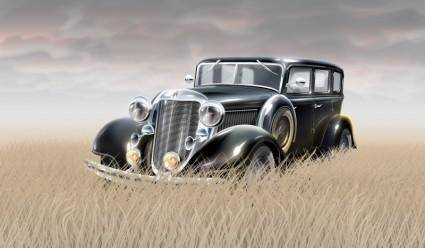 free vector Old styled car