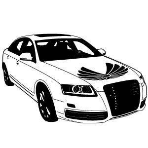 free vector Audi Car Vector