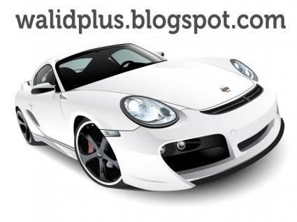 free vector Porshe car vector