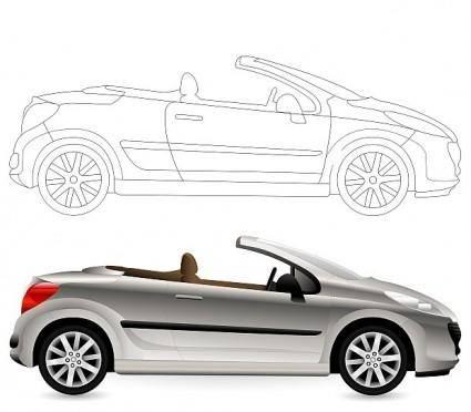 free vector Convertible. Cabriolet Car.