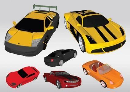free vector Racing Cars Vectors