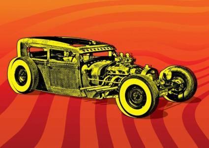 free vector Hotrod Car Vector