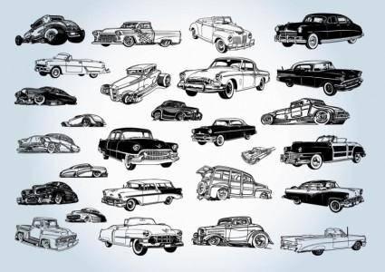 free vector Vintage Cars Vectors