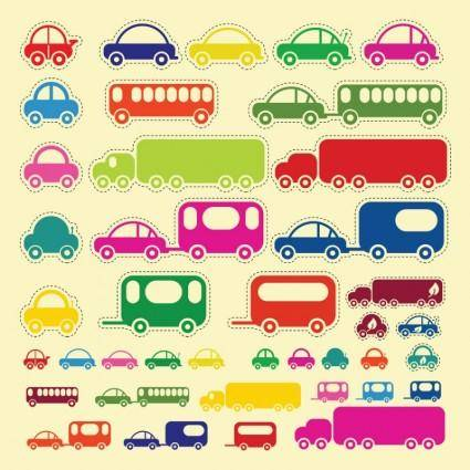 free vector Car Truck Bus Vectors
