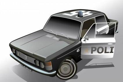 free vector Fiat Police Car