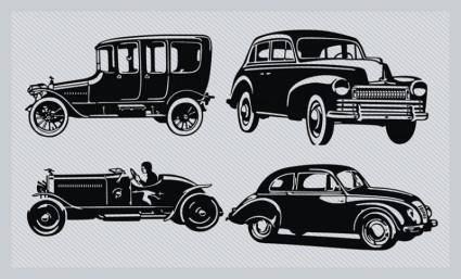 free vector Vintage Car Silhouette Pack