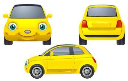 free vector Yellow Car