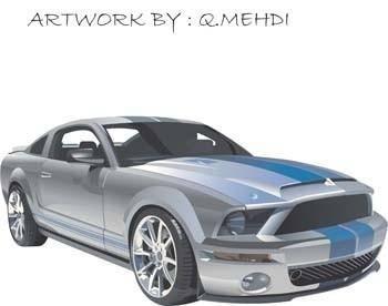 free vector Mustang Sport Car Vector