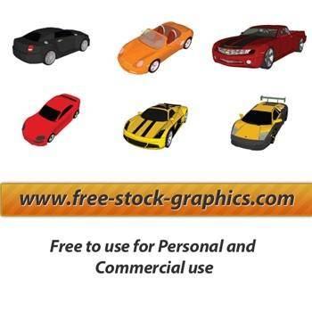 free vector 6 Vector Cars