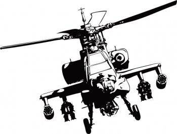 Apache helicopter vector adobe illustrator