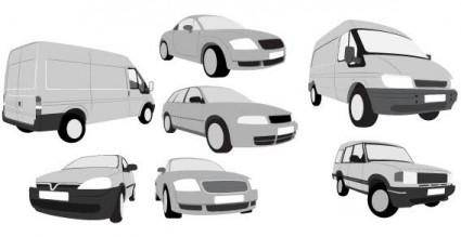 free vector Cars and vans