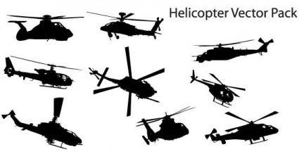 Helicopter free vector pack