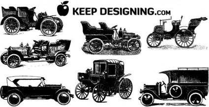Vintage cars free vector art