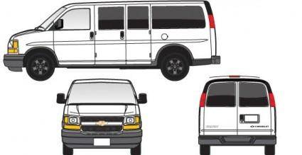 White colour express van vector