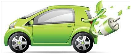 free vector Green Car Vector