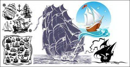 Sailing Ship Theme Vector