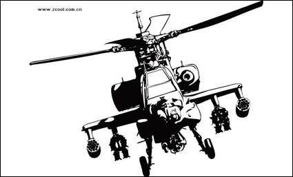 free vector Apache helicopters vector material
